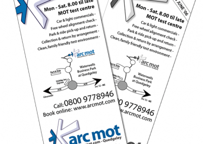 arcmot yellow pages adverts
